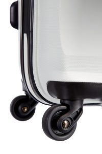 ruedas de una maleta rígida