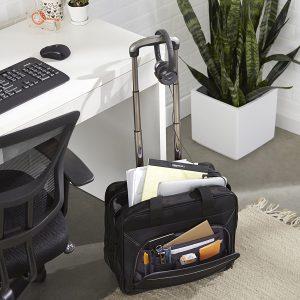 maletín con ruedas para ordenador portátil