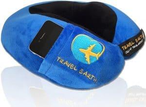 cojín de viaje Travel Earth azul