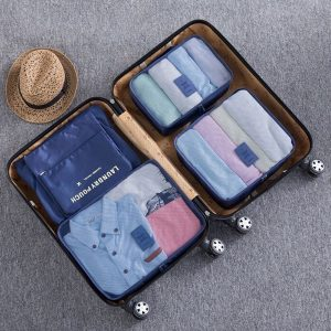 maleta con organizadores de maleta