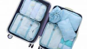 maleta organizada con organizadores de maleta